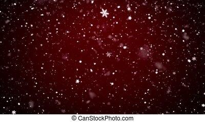 noël, fond, chute neige