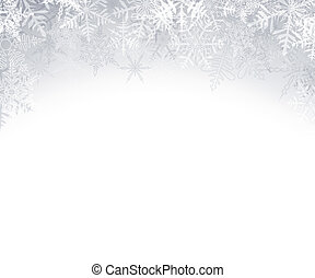 noël, fond, cristallin, snowflakes.