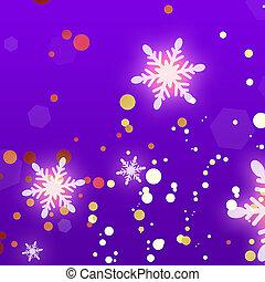 noël, fond, Flocons neige