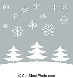 noël, fond, hiver