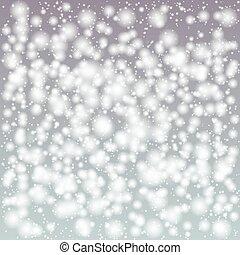 noël, fond, neige