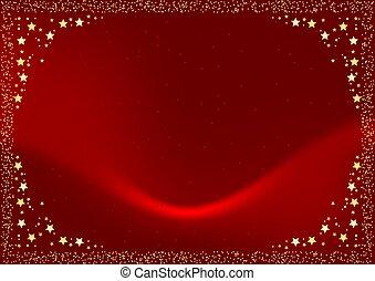 noël, fond, rouges
