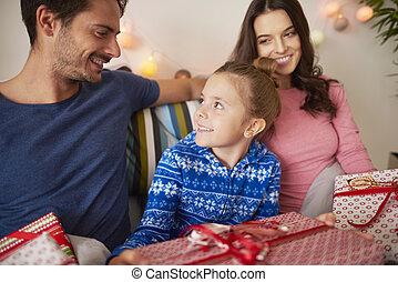 noël heureux, temps famille