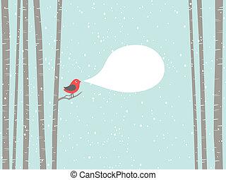 noël, oiseau