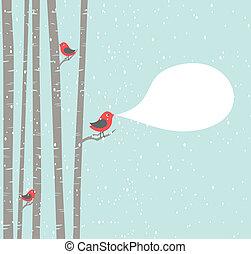 noël, oiseaux
