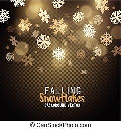 noël, or, flocons neige