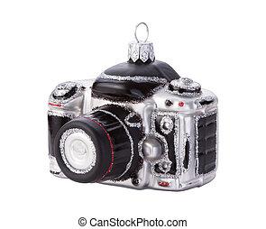 noël ornement, appareil photo, isolé