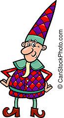 noël, ou, elfe, dessin animé, gnome