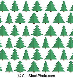 noël, plat, arbre, seamless, modèle, fond, vecteur, illustrat
