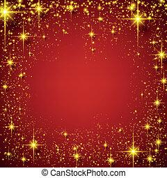 noël, rouges, étoilé, arrière-plan.