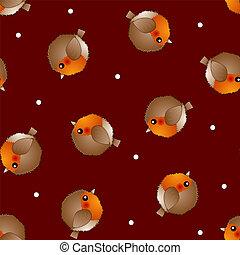 noël, rouges, rouge-gorge, fond, oiseau