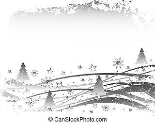 noël, -, scène hiver
