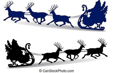 tra neau claus promenades santa claus renne harnais santa tours sleigh. Black Bedroom Furniture Sets. Home Design Ideas