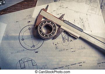 nośny, kaliber, wykresy, mechaniczny