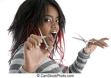 nożyce, samiczy afrykanin