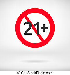 No 21 years old sign.