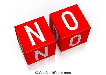 No - 3D cube word