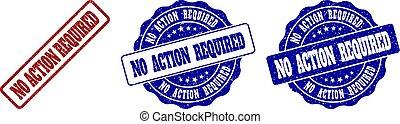 NO ACTION REQUIRED Grunge Stamp Seals