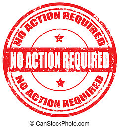 No Action Required-stamp
