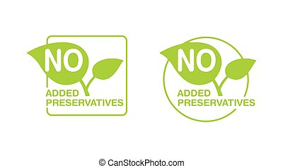 No added preservatives green eco-friendly stamp -