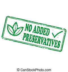 No Added Preservatives Stamp
