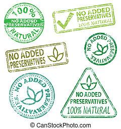No Added Preservatives Stamps - No added preservatives...