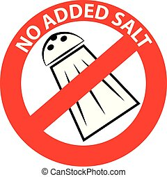 No added salt symbol isolated on white background. Vector...