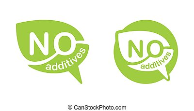 No additives sign in bubble shape