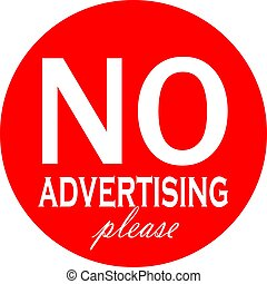 No advertising material vector label
