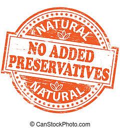no, aggiunto, francobollo, conservanti