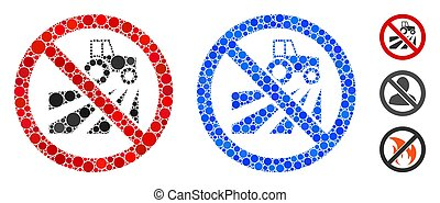 No Agriculture Field Mosaic Icon of Circles