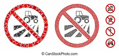 No agriculture field Mosaic Icon of Humpy Pieces