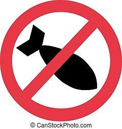 No air bombs in ban sign