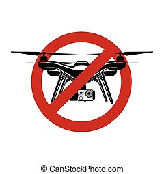no drone quadrocopter fly zone vector sign