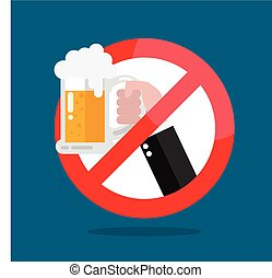 No alcohol allowed sign