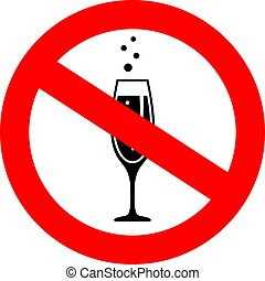 No alcohol drinks vector icon isolated on white background