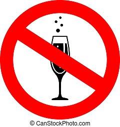 No alcohol drinks vector icon