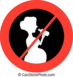 No alcohol for pregnant women symbol. Vector illustration.