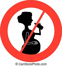 No alcohol for pregnant women symbol