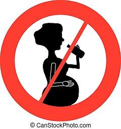 No alcohol for pregnant women symbol