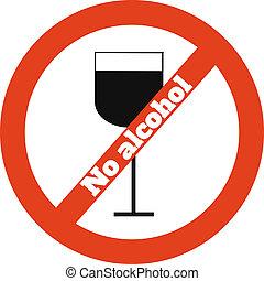 No alcohol icon on white
