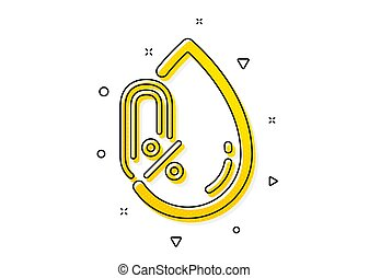 No alcohol icon. Organic tested sign. Water drop. Vector