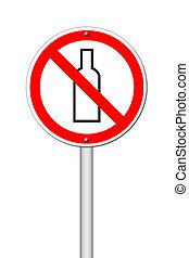 no, alcohol, señal