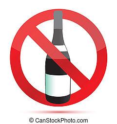 No alcohol sign illustration design