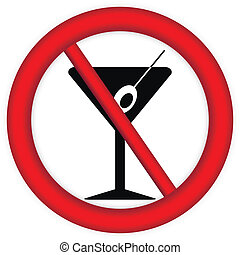 No alcohol sign