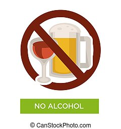 No alcohol sign restriction icon healthcare or diet