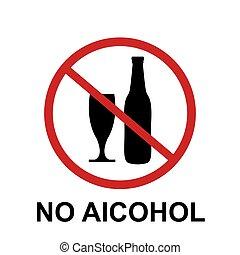 no alcohol sing design vector illustration icon