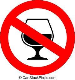 No alcohol vector sign
