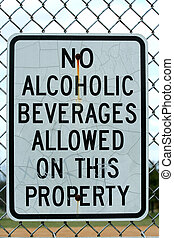 No alcoholic beverages sign - A No alcoholic beverages sign