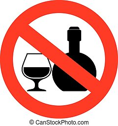 No alcoholic drinks sign